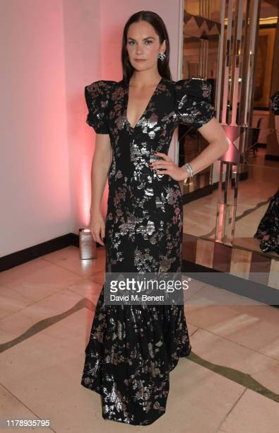 Ruth Wilson winner of the TV Icon Award attends the Harper's Bazaar Women of the Year Awards 2019 in partnership with Armani Beauty at Claridge's...
