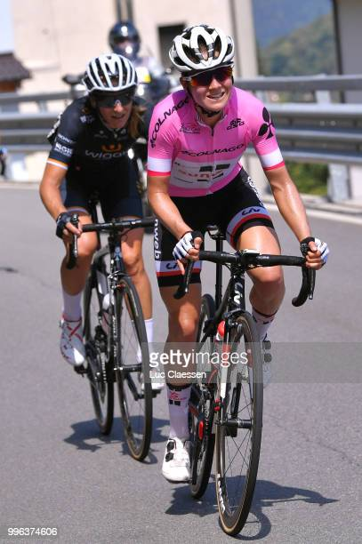Ruth Winder of The United States and Team Sunweb Pink leaders jersey / Martina Ritter of Austria and Team Wiggle High5 / during the 29th Tour of...