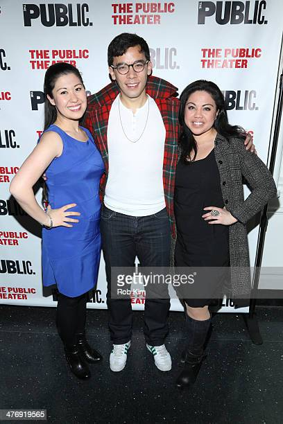 Ruthie Ann Miles Conrad Ricamora and MariaChristina Oliveras attend The Public Theater Presents Antony And Cleopatra Opening Night at The Public...