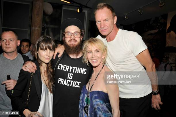 Ruthie Cooper Jake Sumner Trudie Styler and Sting attend NIKE STADIUM NYC Opening at 276 Bowery on May 14 2010 in New York City