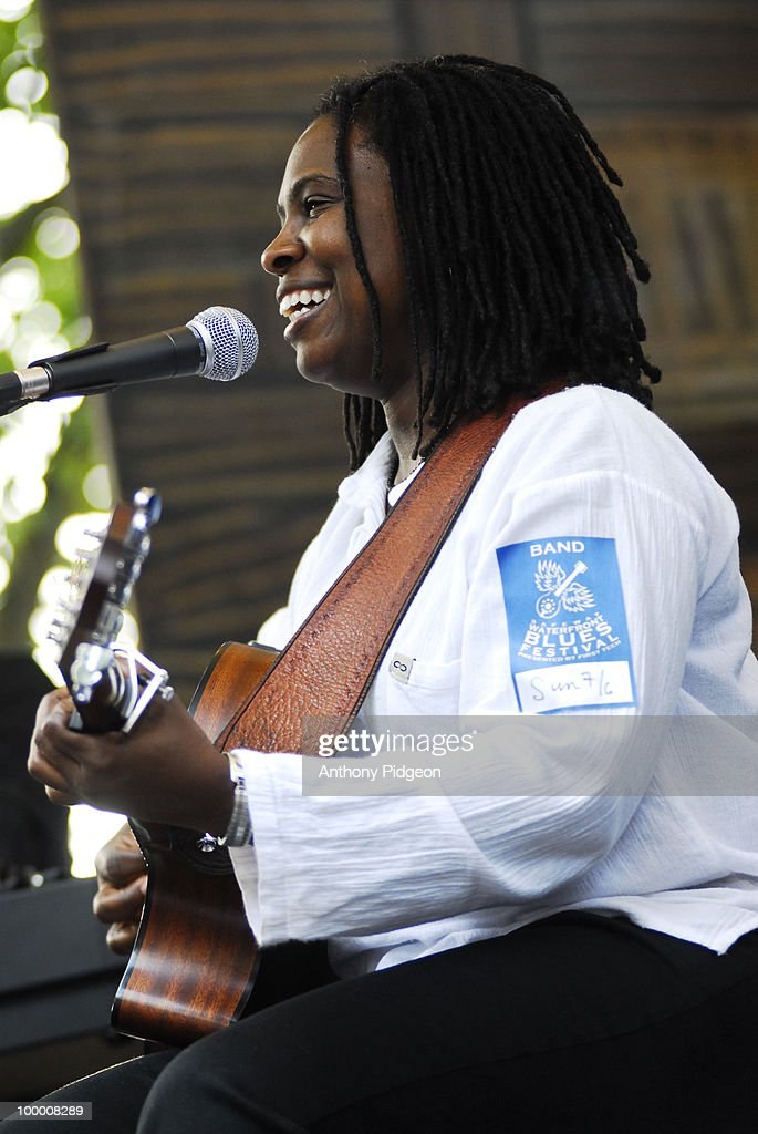 Ruthie Foster performs on stage at the Waterfront Blues festival in July 2008 in Portland, Oregon, United States.