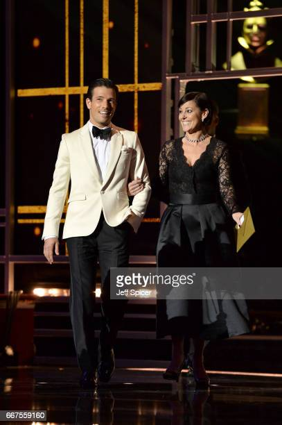 Ruthie Henshall and Danny Mac on stage during The Olivier Awards 2017 at Royal Albert Hall on April 9 2017 in London England