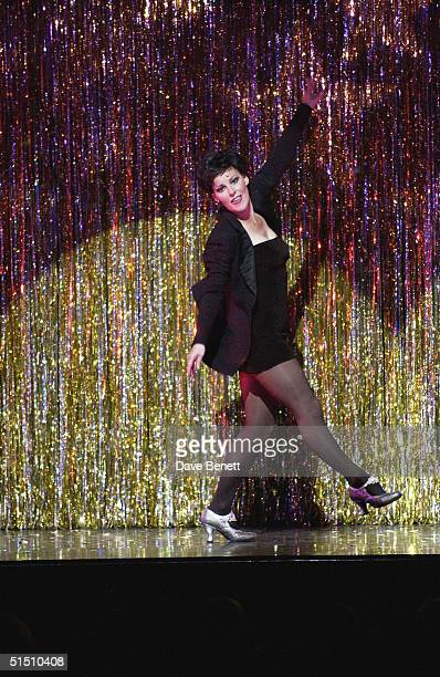 Ruthie Henshall performs at the opening night of her return to West End Musical Chicago at the Adelphi Theatre on June17 2003 in London