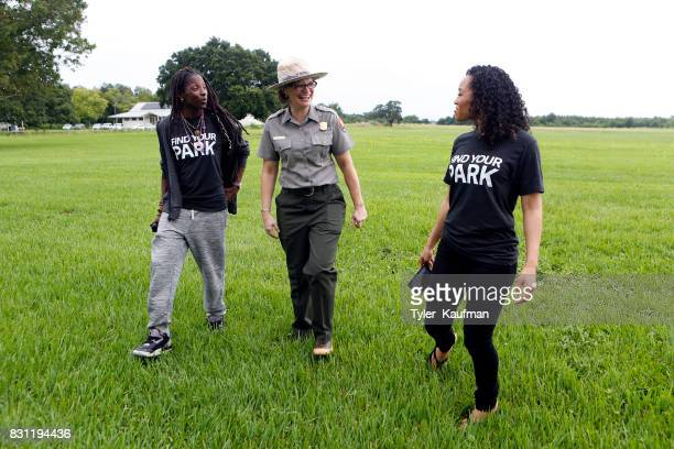 Rutina Wesley a National Park Service Ranger and DawnLyen Gardner attend the National Park Foundation's Parks 101 Experience at The MalusBeauregard...
