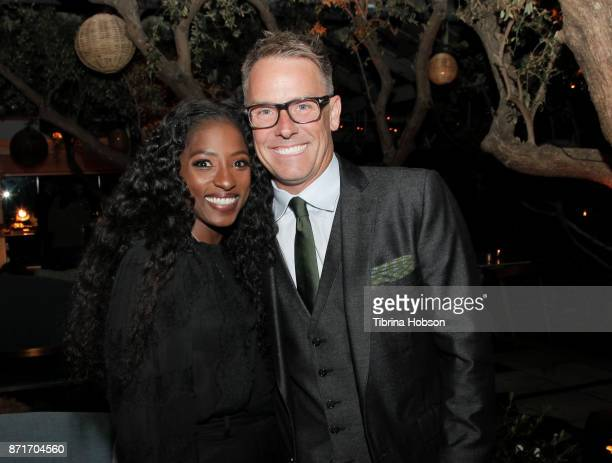 Rutina Wesley and Erik Logan attend the taping of 'Queen Sugar AfterShow' after party on November 7 2017 in Los Angeles California