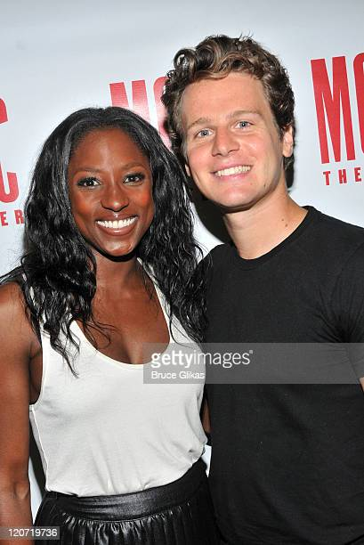 Rutina Wesley and Jonathan Groff attend 'The Submission' cast photocall at the Second Stage Rehearsal Space on August 8 2011 in New York City