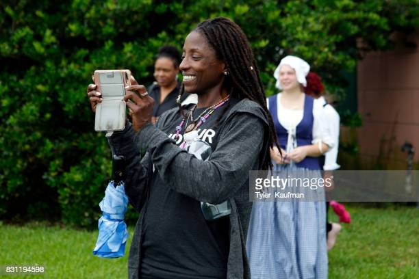 Rutina Wesley attends the National Park Foundation's Parks 101 Experience at The MalusBeauregard House at the Chalmette Battlefield and National...