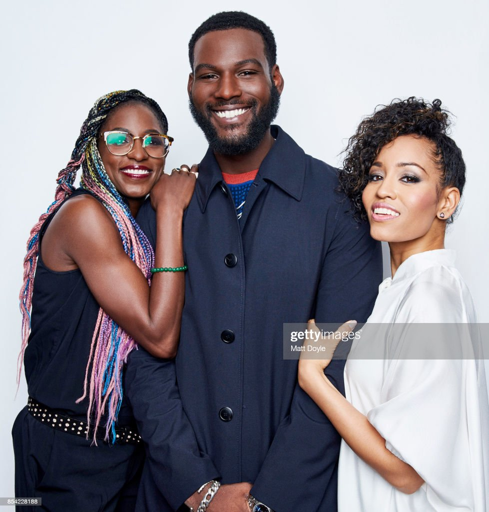 Rutina Wesley, Dawn-Lyen Gardner and Kofi Siriboe pose for a portraits at the Tribeca TV festival at Cinepolis Chelsea on September 24, 2017.
