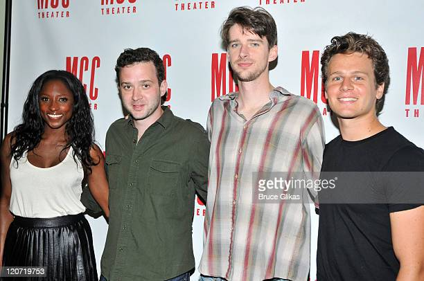 Rutina Wesley Eddie Kaye Thomas Will Rogers and Jonathan Groff attend 'The Submission' cast photocall at the Second Stage Rehearsal Space on August 8...