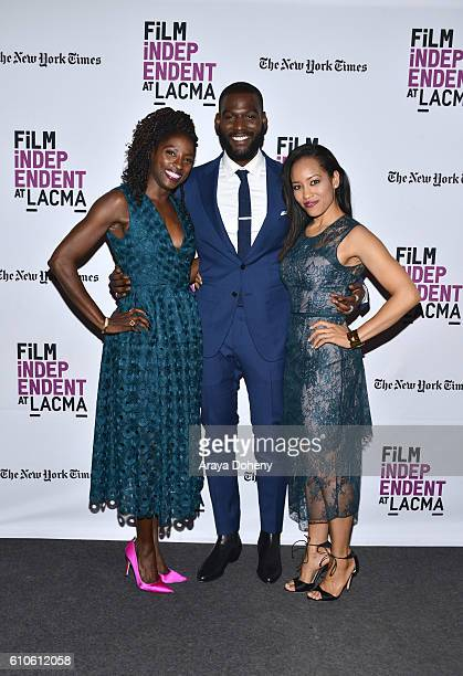 Rutina Wesley Kofi Siriboe and DawnLyen Gardner attend Film Independent at LACMA An Evening With Ava DuVernay and Oprah Winfrey at Bing Theatre At...