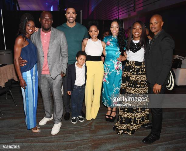 Rutina Wesley Omar Dorsey Timon Kyle Durrett Ethan Hutchison DawnLyen Gardner Bianca Lawson Tina Lifford and Dondre Whitfield attend the 2017 ESSENCE...