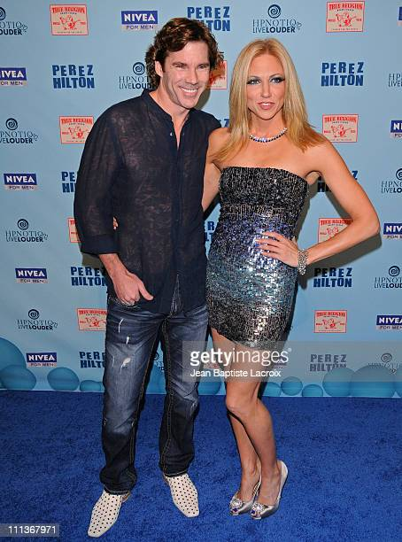 Rutledge Taylor and Debbie Gibson attend Perez Hilton's Blue Ball Birthday Celebration on March 26 2011 in Hollywood California