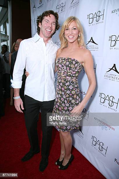 Rutledge Taylor and recording artist Deborah Gibson attend the Children's Hospital Los Angeles Benefit The Bash at Crustacean on May 17 2009 in...