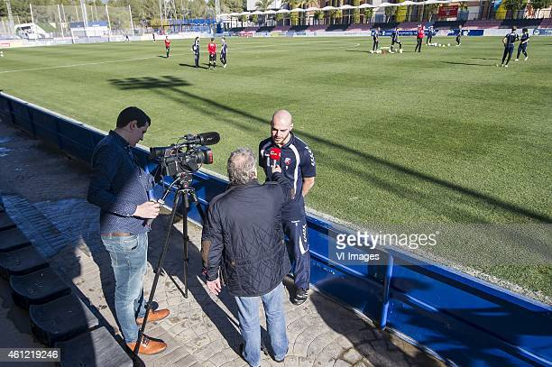 Ruud Boymans of FC Utrecht had an interview during the training camp of FC Utrecht on January 9 2015 at Benidorm Spain