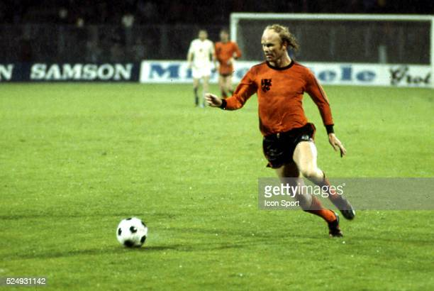 Ruud Geels of Holland during the European Championship between Czechoslovakia and Holland in Stadium Maksimir Zagreb Yugoslavia on 16th June 1976