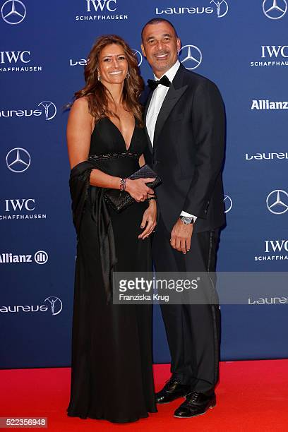 Ruud Gullit and guest attend the Laureus World Sports Awards 2016 at the Messe Berlin on April 18 2016 in Berlin Germany