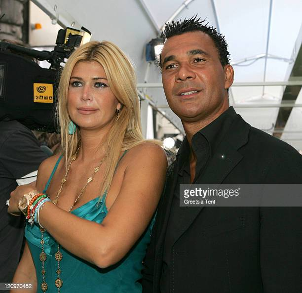 Ruud Gullit and his wife Estelle Gullit during Shrek the Third Amsterdam Premiere at Tuschinski Theater in Amsterdam Netherlands