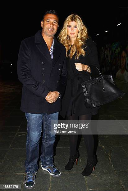 Ruud Gullit and wife Estelle Cruyff attend the Laureus Welcome Party as part of the Laureus World Sports Awards 2012 at the OXO Tower on February 5...