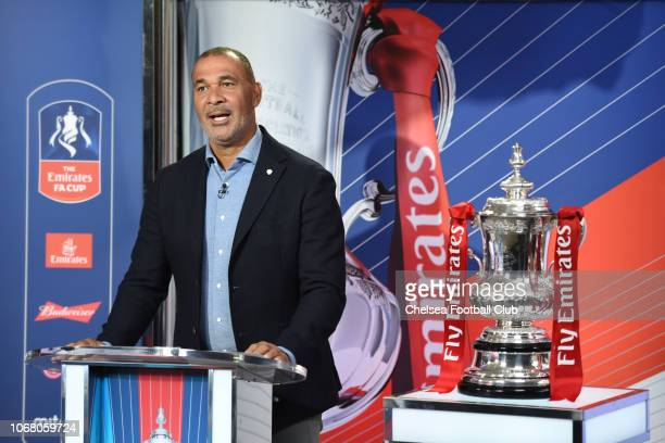 Ruud Gullit at the Emirates FA Cup Third Round Draw at Stamford Bridge on December 3 2018 in London England