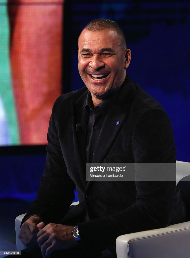 Ruud Gullit attends 'Che Tempo Che Fa' tv show on January 22, 2017 in Milan, Italy.