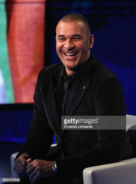 Ruud Gullit attends 'Che Tempo Che Fa' tv show on January 22 2017 in Milan Italy