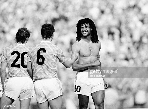 Ruud Gullit of Holland after his team's victory against England in a European Championship match held at the Rheinstadion in Dusseldorf on 15th June...