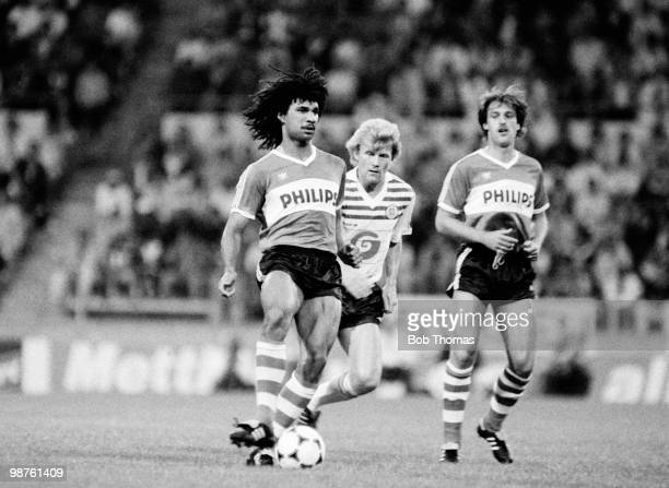 Ruud Gullit of PSV Eindhoven in action against Anderlecht in a preseason tournament held at Philips Stadium in Eindhoven Netherlands on 11th August...