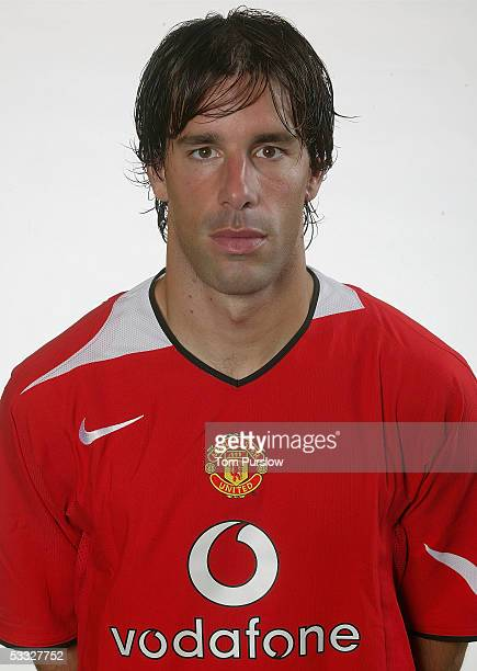 Ruud van Nistelrooy of Manchester United poses during the annual club photocall at Carrington Training Ground on 5 August 2005 in Manchester, England.