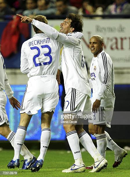 ac7df495823 Ruud van Nistelrooy of Real Madrid celebrates after scoring his fourth goal  against Osasuna during the