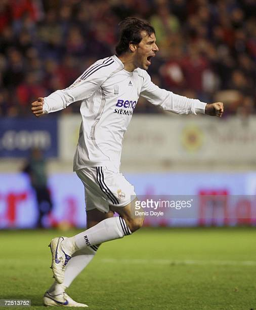 e8c5e4103a2 Ruud van Nistelrooy of Real Madrid celebrates after scoring Real s second  goal against Osasuna during the