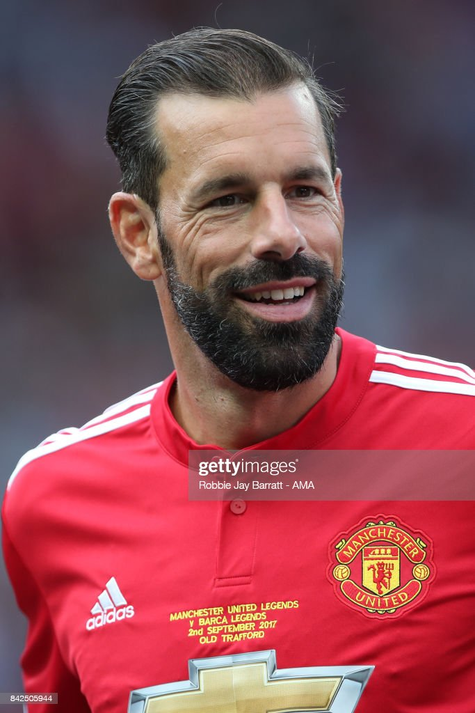 Ruud Van Nistlerooy of Manchester United Legends during the match between Manchester United Legends and FC Barcelona Legends at Old Trafford on September 2, 2017 in Manchester, England.