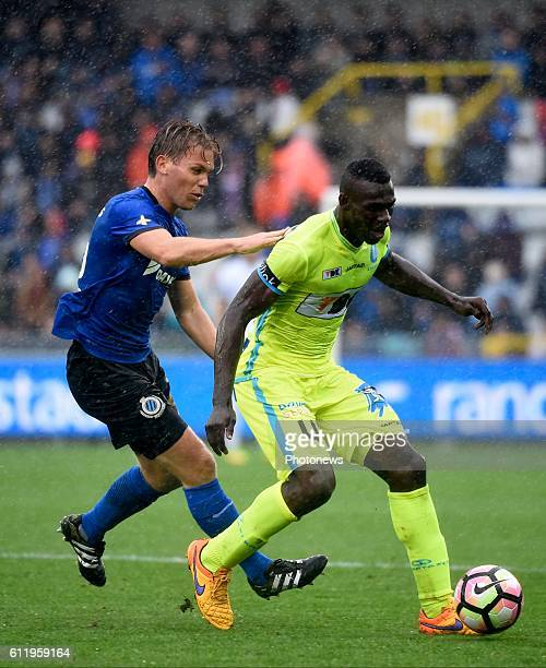 Ruud Vormer midfielder of Club Brugge and Anderson Esiti of KAA Gent pictured during Jupiler Pro League match between Club Brugge KV and KAA Gent on...