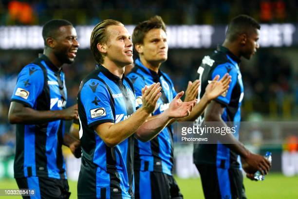 Ruud Vormer midfielder of Club Brugge and Jelle Vossen forward of Club Brugge celebrates during the Jupiler Pro League match between Club Brugge and...