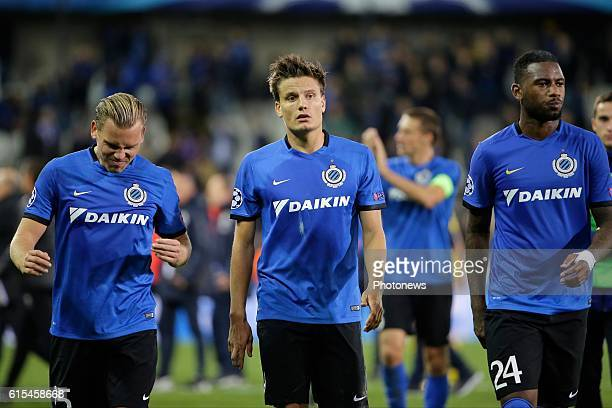 Ruud Vormer midfielder of Club Brugge and Jelle Vossen forward of Club Brugge shows dejection pictured during the UEFA Champions League Group G stage...