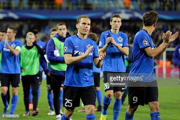 Ruud Vormer midfielder of Club Brugge pictured during the UEFA Champions League Group G stage match between Club Brugge and FC Porto at Jan Breydel...