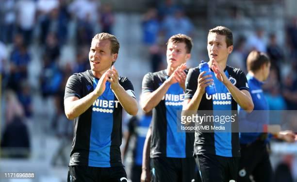 Ruud Vormer of Club Brugge and Hans Vanaken of Club Brugge look dejected during the Jupiler Pro League match between Club Brugge KV and KRC Genk at...
