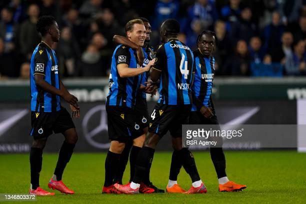 Ruud Vormer of Club Brugge celebrate scoring first Club Brugge goal of the evening during the Jupiler Pro League match between Club Brugge and KV...
