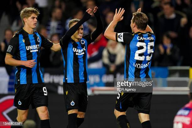 Ruud Vormer of Club Brugge celebrate scoring second Club Brugge goal of the evening during the Jupiler Pro League match between Club Brugge and KV...