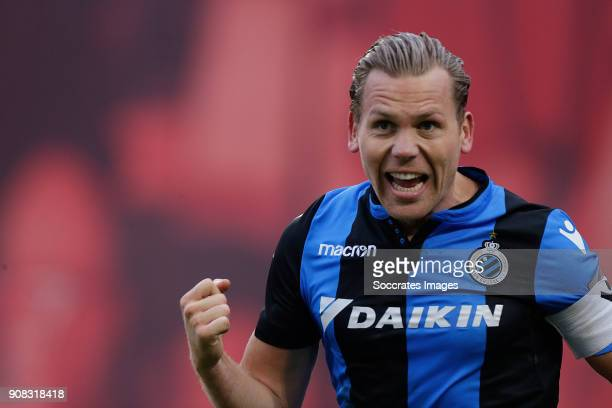Ruud Vormer of Club Brugge celebrates 22 during the Belgium Pro League match between Royal Antwerp v Club Brugge at the Bosuil Stadium on January 21...