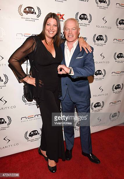 Ruve McDonough and actor Neal McDonough attend the 16th Annual Golden Trailer Awards at Saban Theatre on May 6 2015 in Beverly Hills California