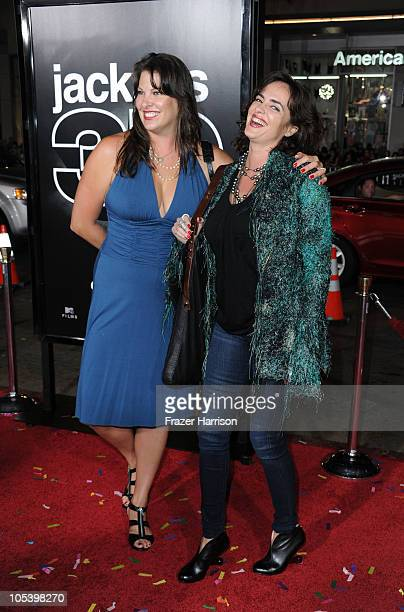 Ruve McDonough and actress Michelle Johnson arrives at the premiere of Paramount Pictures and MTV Films' Jackass 3D at the Mann's Chinese Theater on...