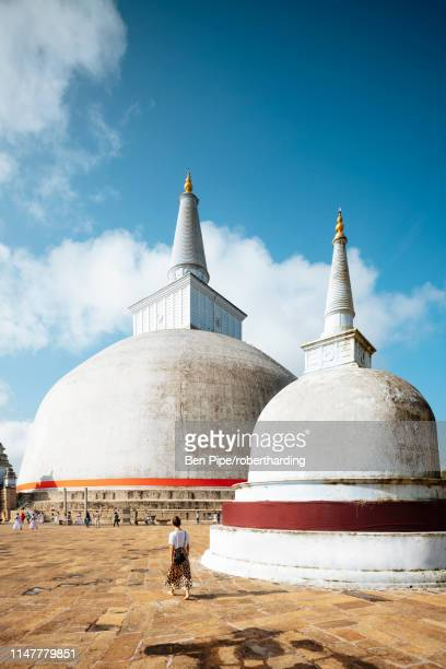 ruwanweli saya dagoba (golden sand stupa), anuradhapura, unesco world heritage site, north central province, sri lanka, asia - stupa stock pictures, royalty-free photos & images