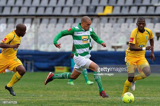 Ruzaigh Gamildien of Celtics during the Absa Premiership match between Bloemfontein Celtic and Golden Arrows at Free State Stadium on April 21 2013...