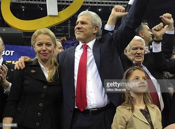 Ruzica Djindjic widow of assassinated Serbian Prime Minister Zoran Djindjic and Serbian President and president of Democratic Party Boris Tadic...