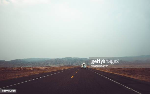 rv driving in wyoming - old truck stock pictures, royalty-free photos & images