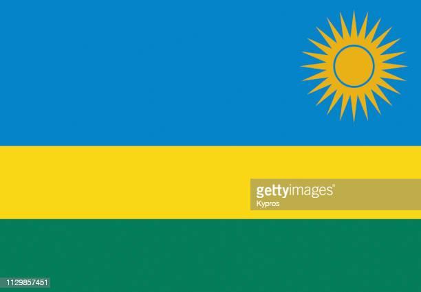 rwanda flag - ruanda fotografías e imágenes de stock