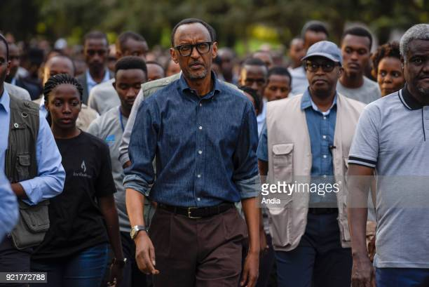 official ceremonies for the 23rd commemoration of the 1994 genocide between Hutus and Tutsis 'Kwibuka 23' in the presence of Paul Kagame President of...
