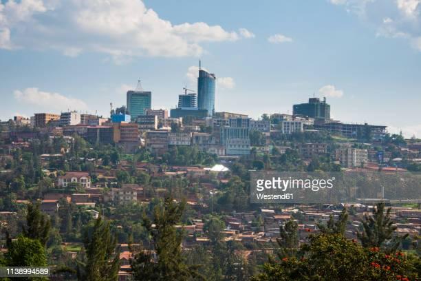 rwanda, view to kigali with skyscrapers - ruanda fotografías e imágenes de stock