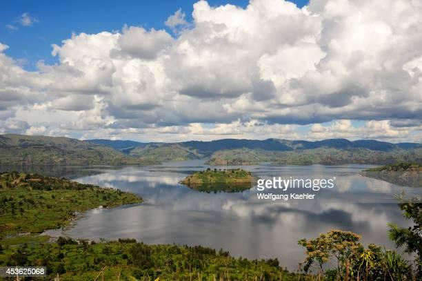 Rwanda Virunga Area View Of Lake Bulera