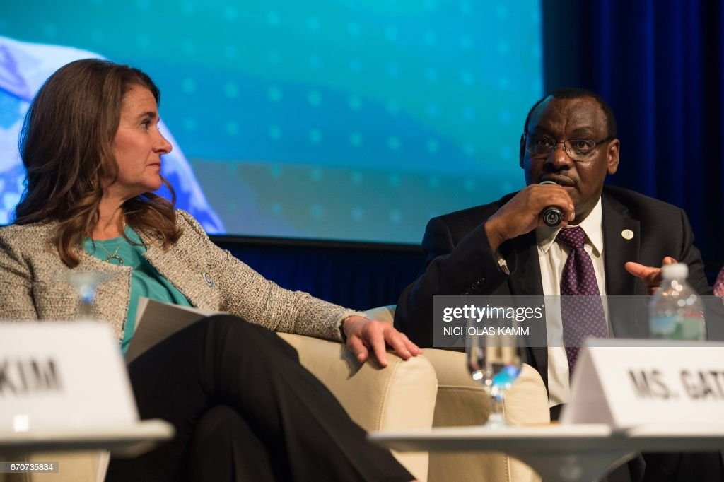 Rwandan Finance Ministefr Claver Gatete speaks during a discussion entitled 'Generation Now - Investing in Adolescents Today to Shape the World of Tomorrow' at the IMF/WB Spring meetings in Washington, DC, on April 20, 2017. /
